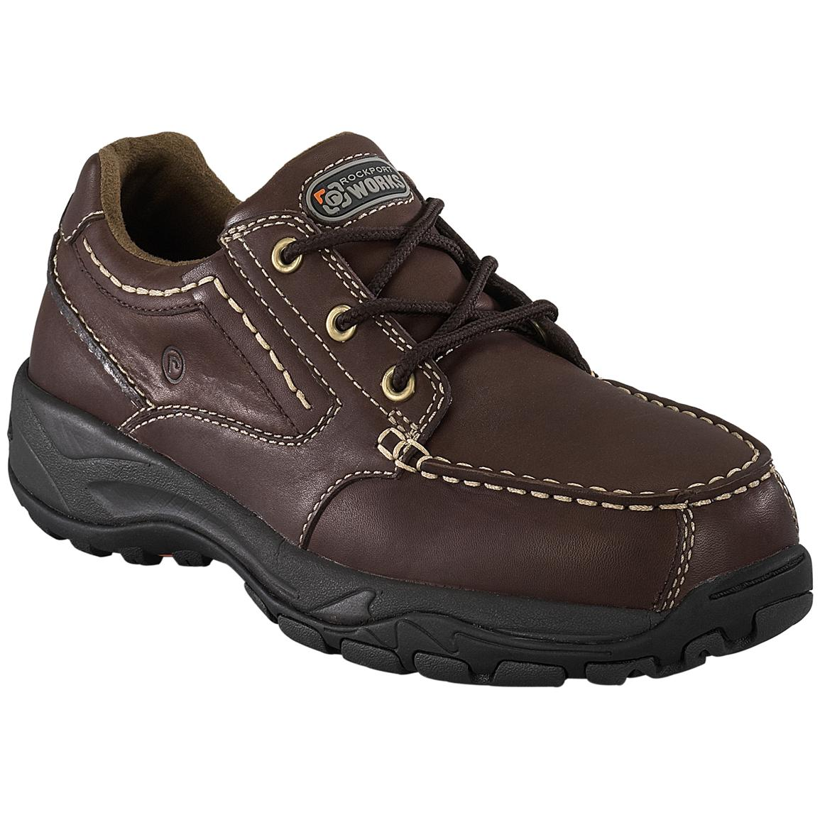 Men's Rockport Works RK6746 Composite Toe Work Shoes, Brown