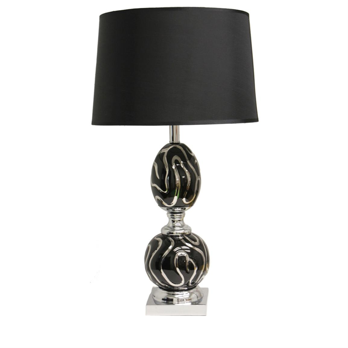 Polaris® Black Psychedelic Table Lamp