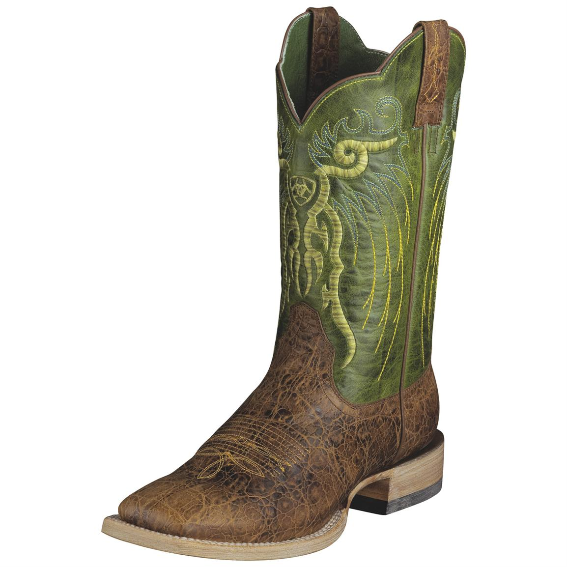 Men's Ariat® 12 inch Mesteno Western Boots, Adobe Clay/Lime