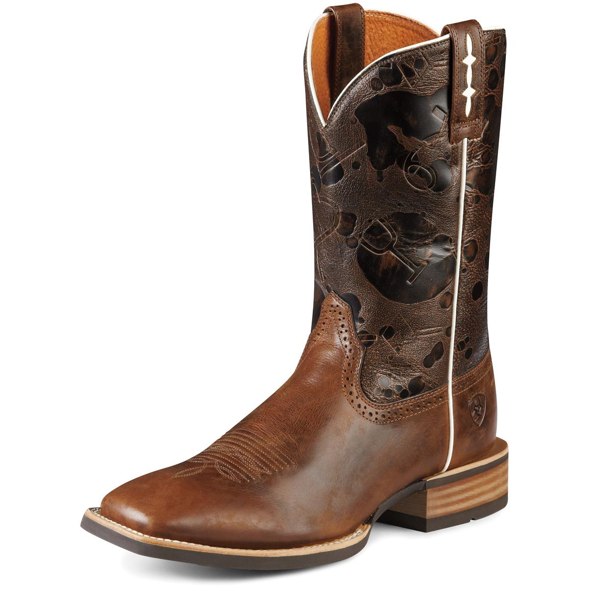 Men's Ariat® 11 inch Hot Iron Western Boots, Brown / Saddle Brown