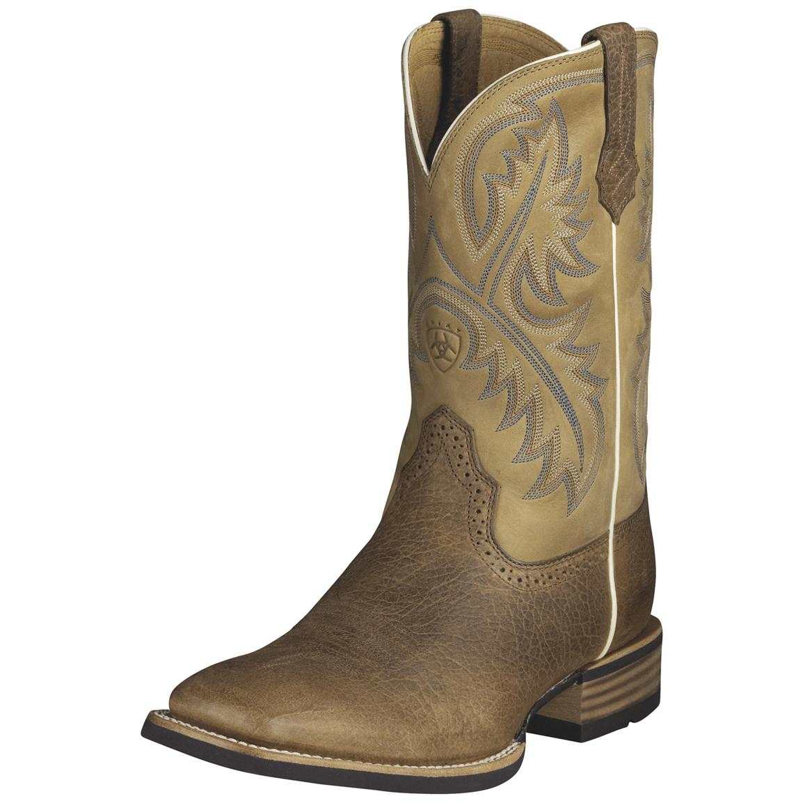 Men's Ariat® 11 inch Quickdraw Western Boots, Bark