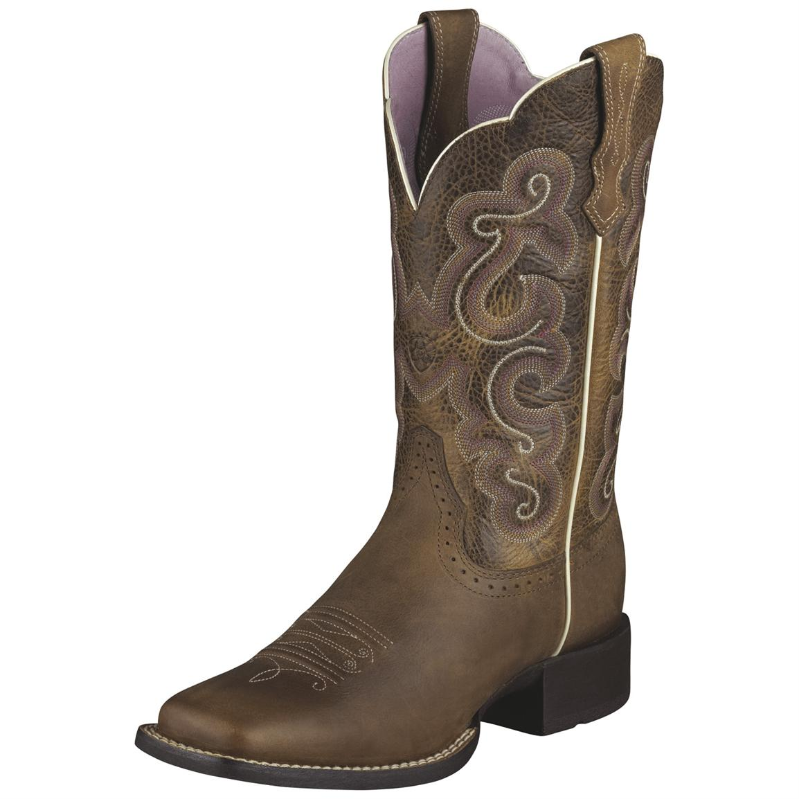 Women's Ariat® 11 inch Quickdraw Western Boots, Brown