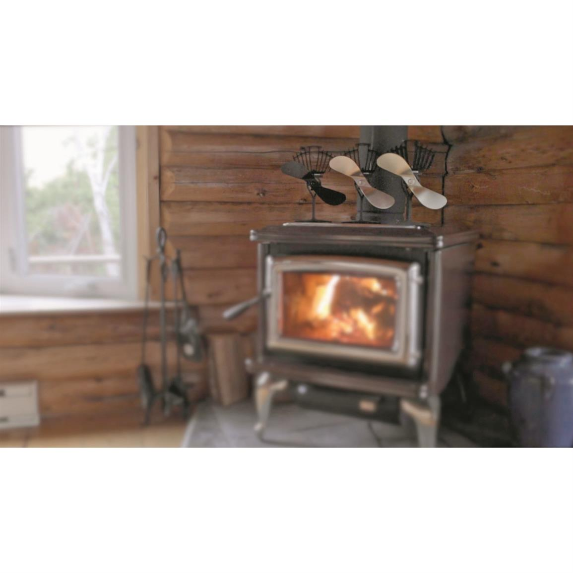 As the surface temperature of your wood stove heats up, the fan will begin  to - Ecofan AirMax Heat-Powered Wood Stove Fan - 216268, Accessories At