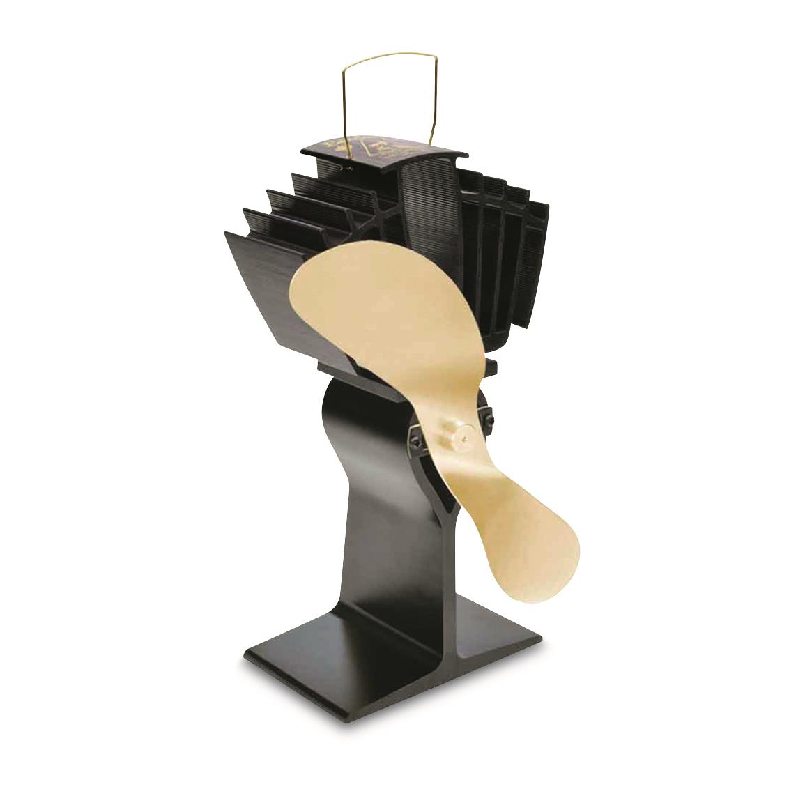 Ecofan AirMax Heat-Powered Wood Stove Fan, Gold