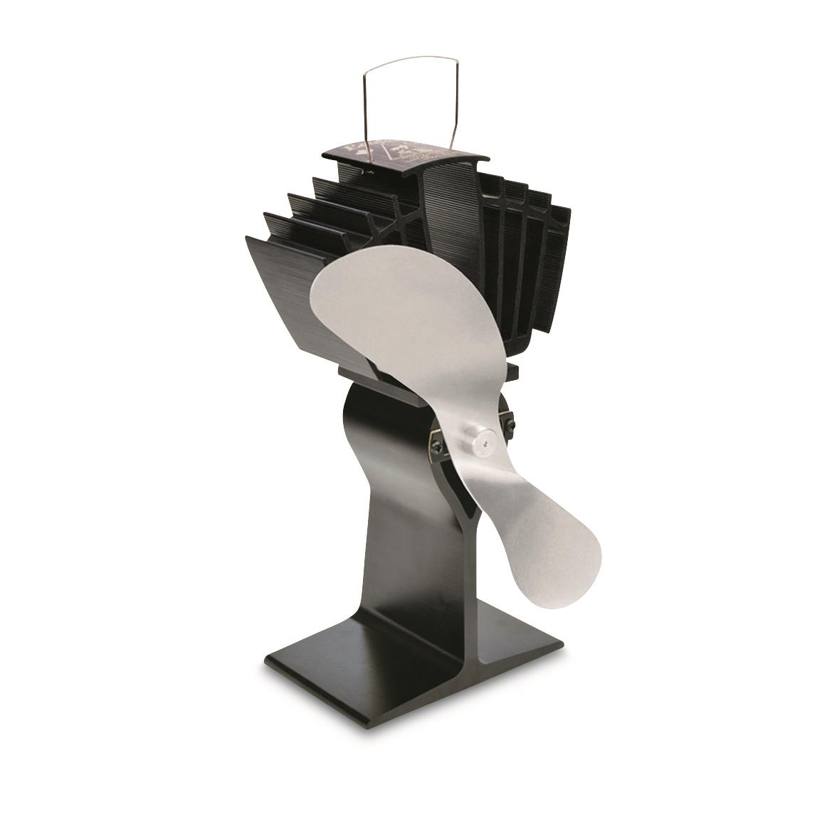 Ecofan AirMax Heat-Powered Wood Stove Fan, Nickel; Efficient and ultra quiet