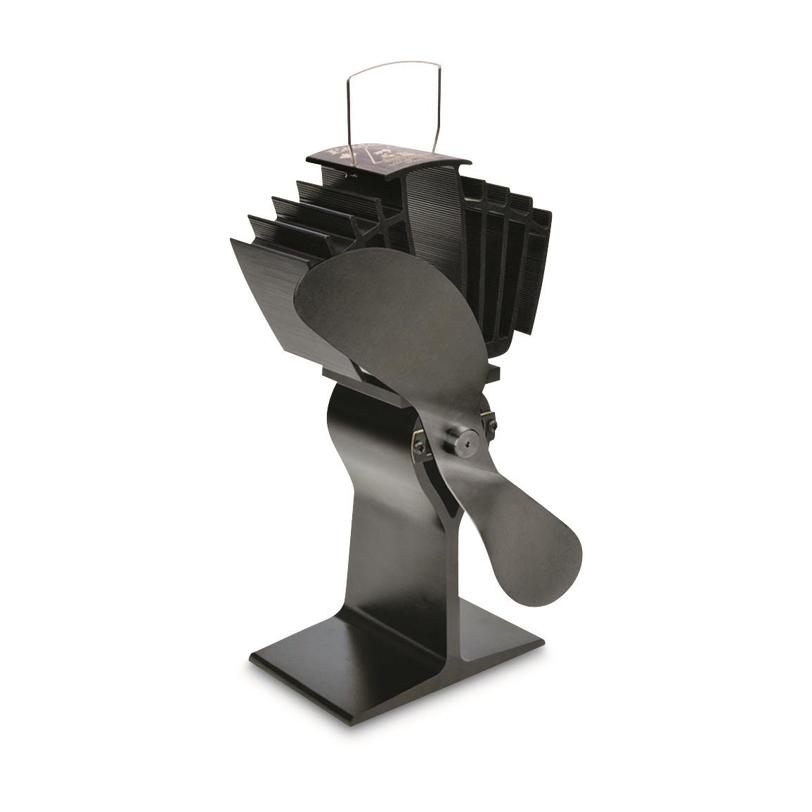 Ecofan AirMax Heat-Powered Wood Stove Fan, Black