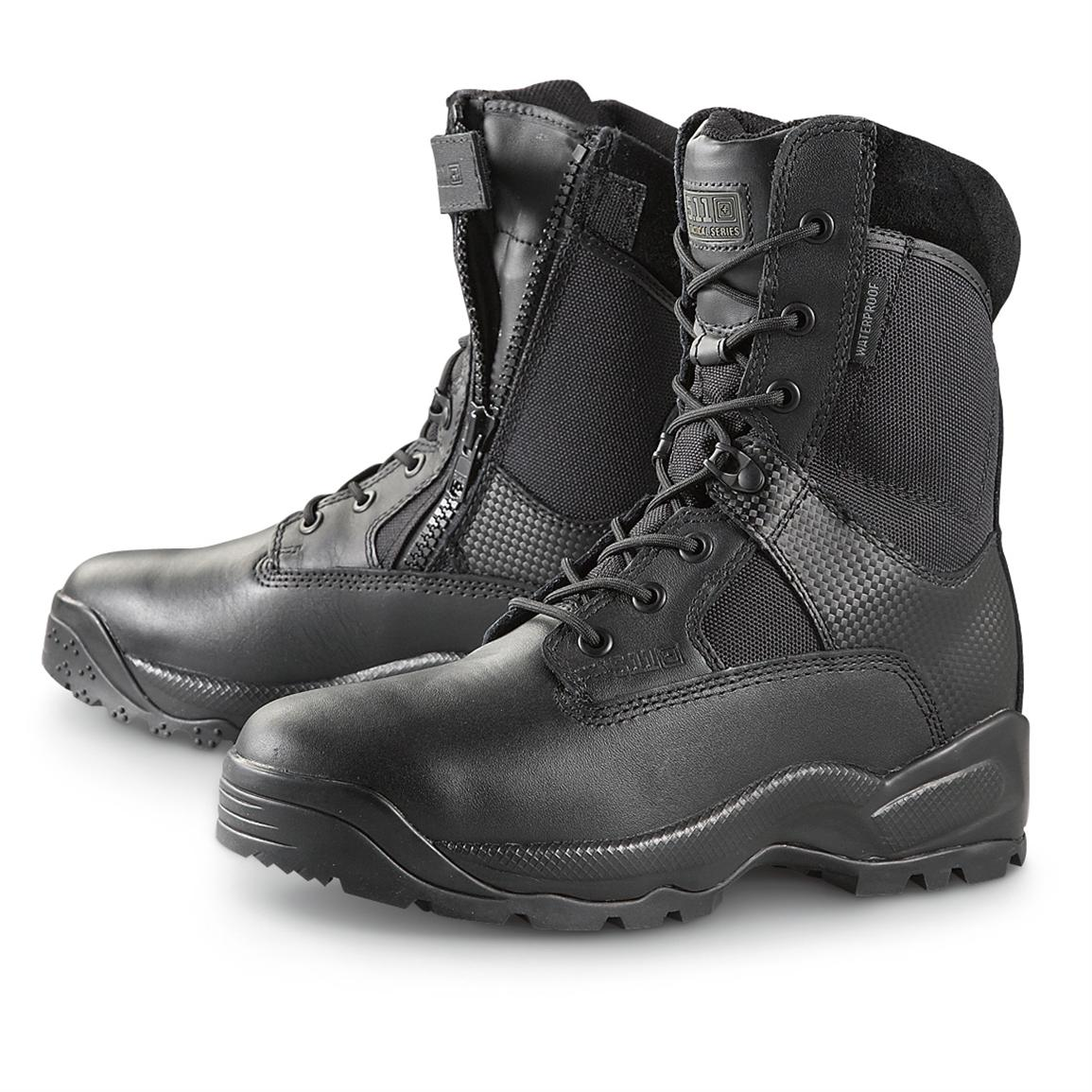 "Men's 5.11 Tactical® 8"" Waterproof Side-zip Storm Combat Boots, Black"