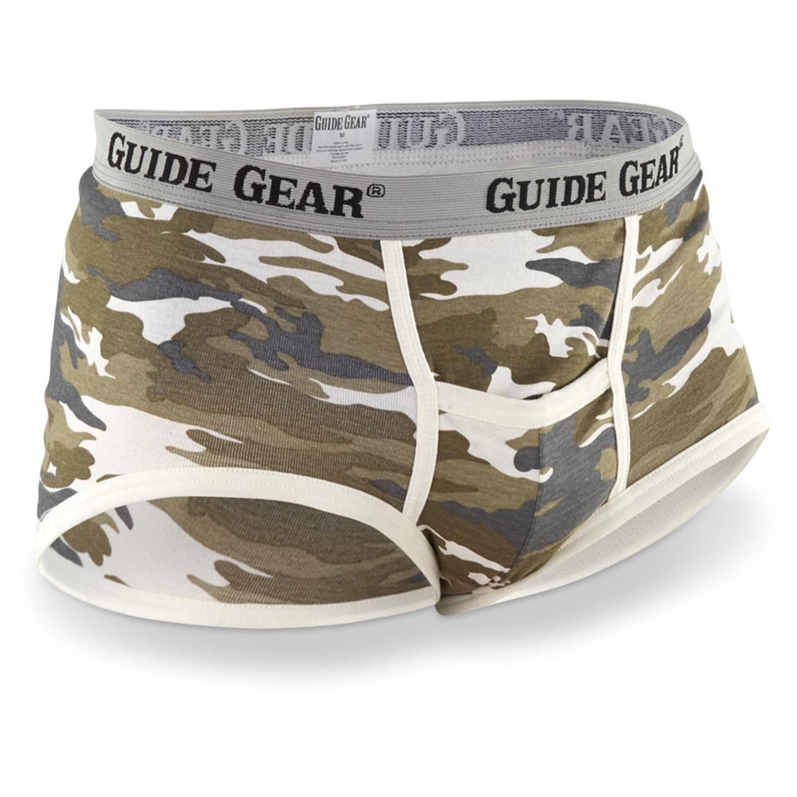 Guide Gear Men's Camo Base Camp Pouch Briefs, 6-Pack