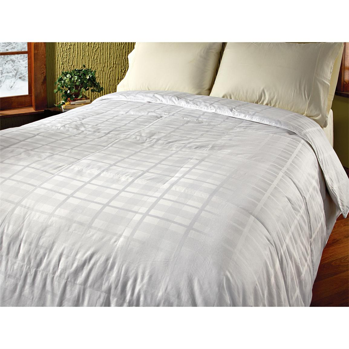 320 Thread Count Pinstripe Windowpane Feather / Down Comforter