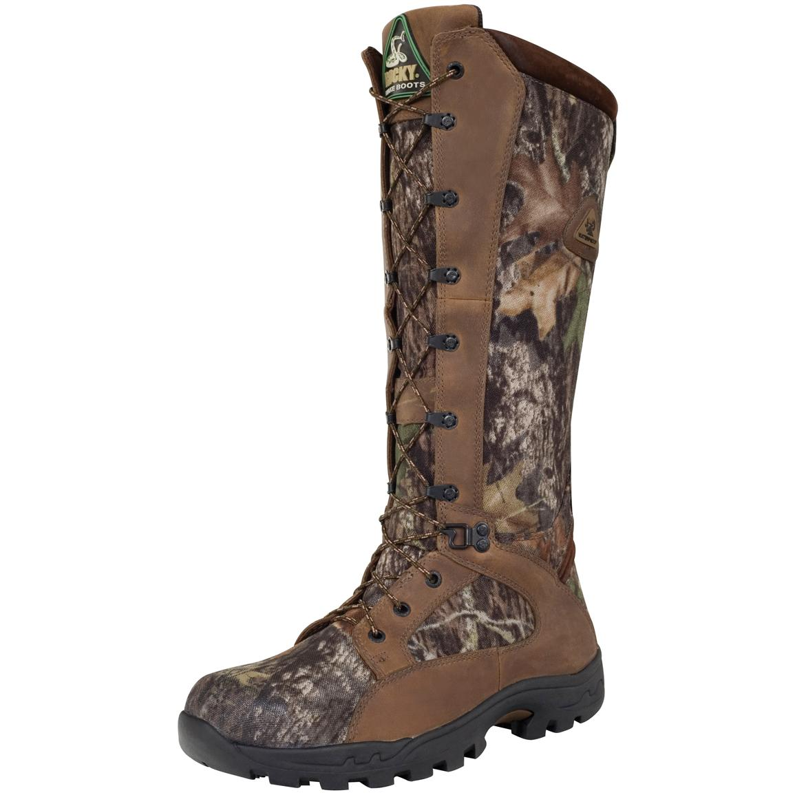 Men's Rocky® 16 inch ProLight SnakeProof Waterproof Boots, Mossy Oak Break-up®
