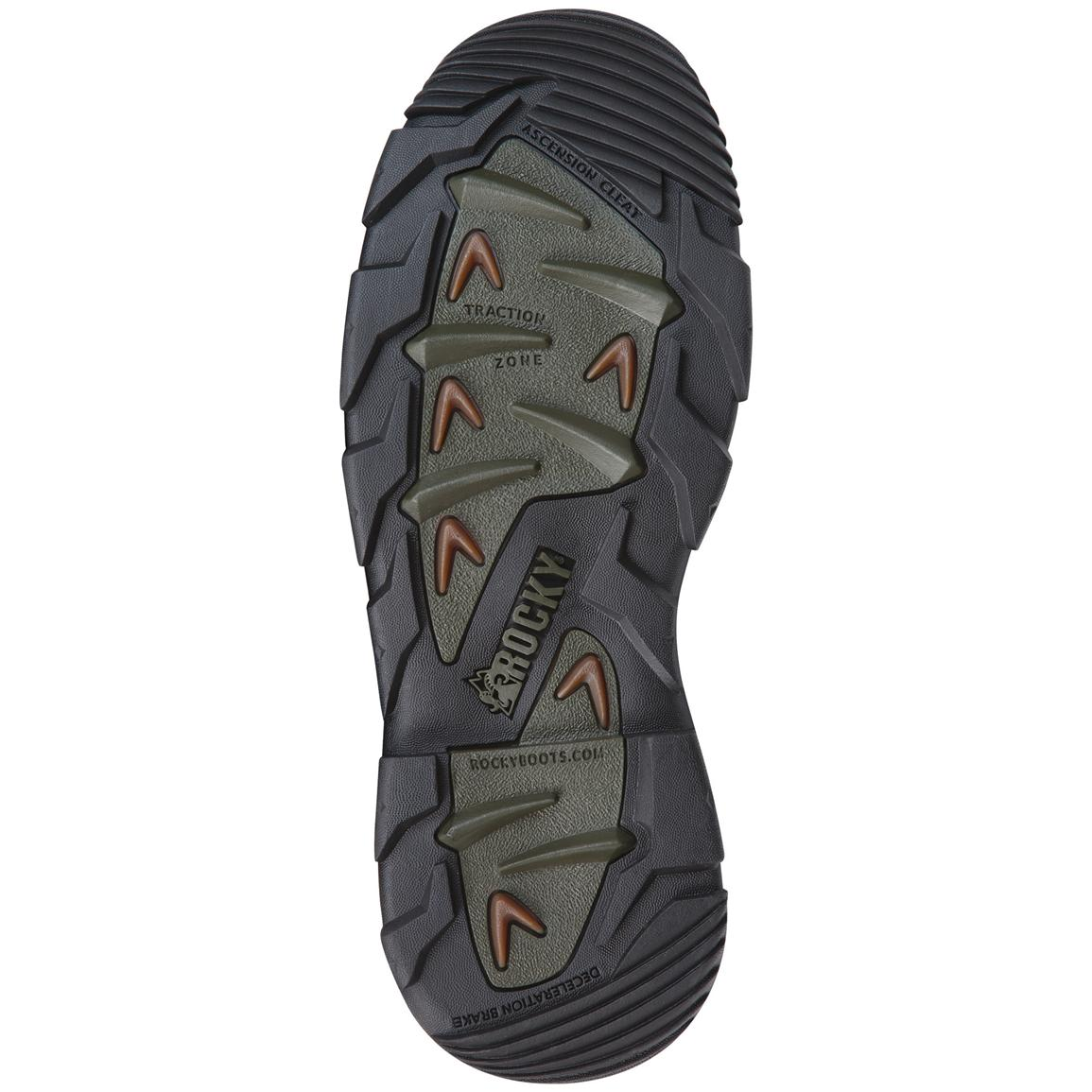 Outsole designed for ice and snow traction