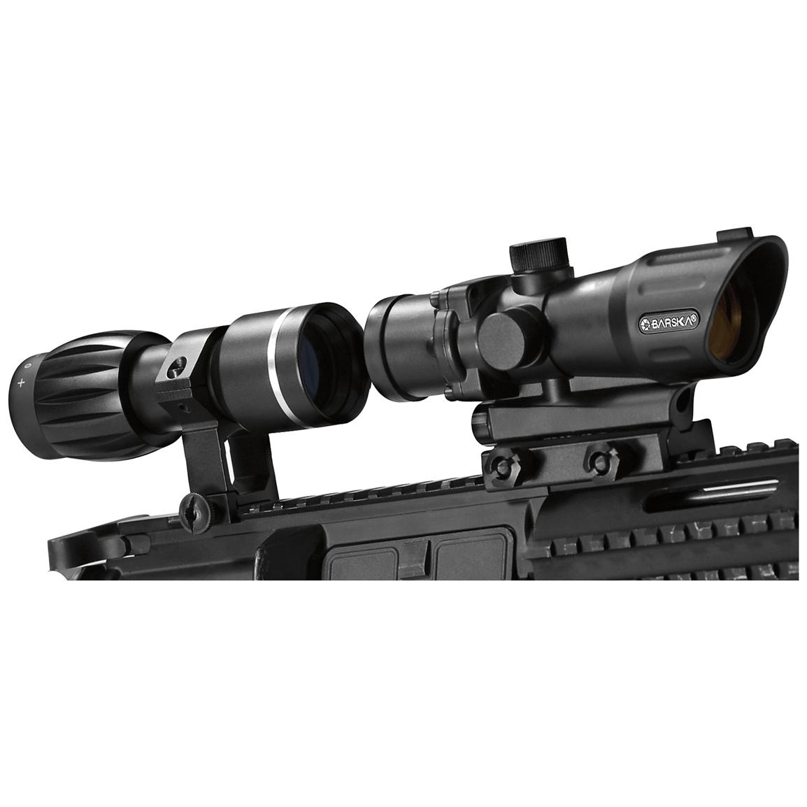 Barska® 1x30 mm Electro Sight with 3X Magnifier, Matte Black