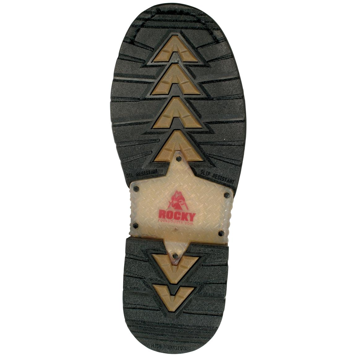 7-layer slip and oil-resistant rubber outsole
