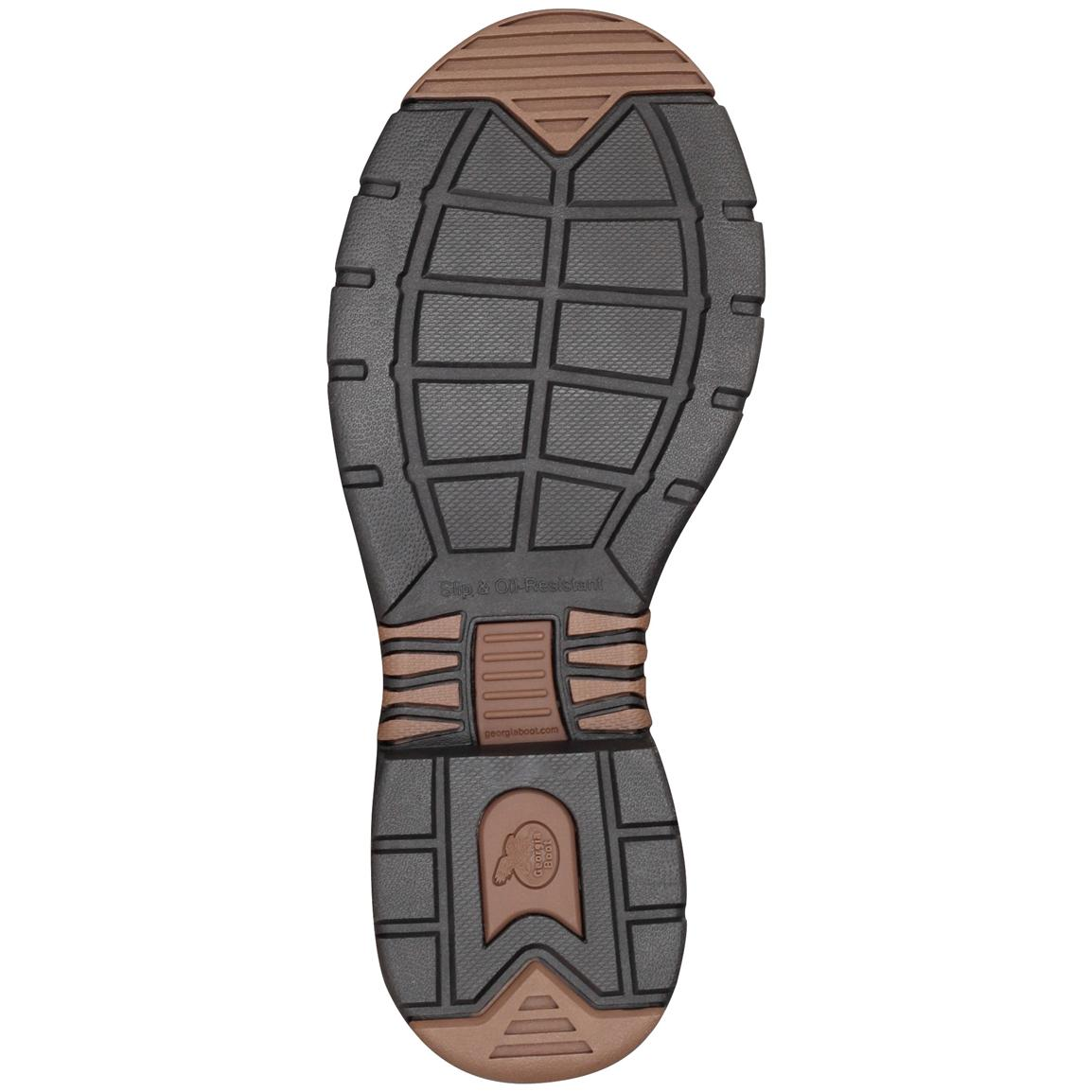 Rubber outsole for reliable traction