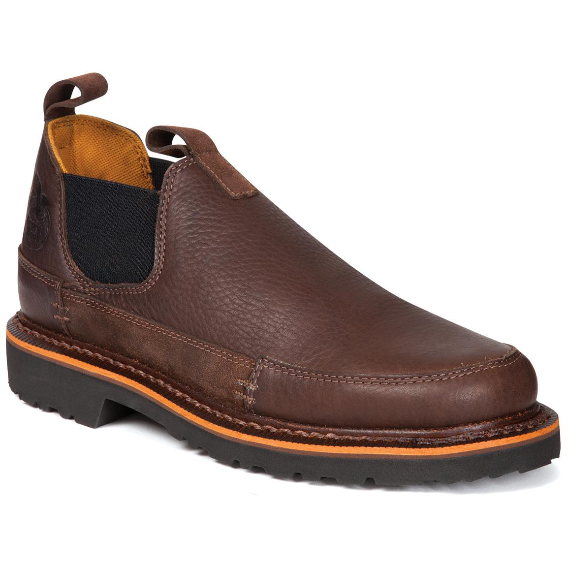Men's Georgia® Giant Romeo Slip-On Work Shoes, Brown - 217557 ...
