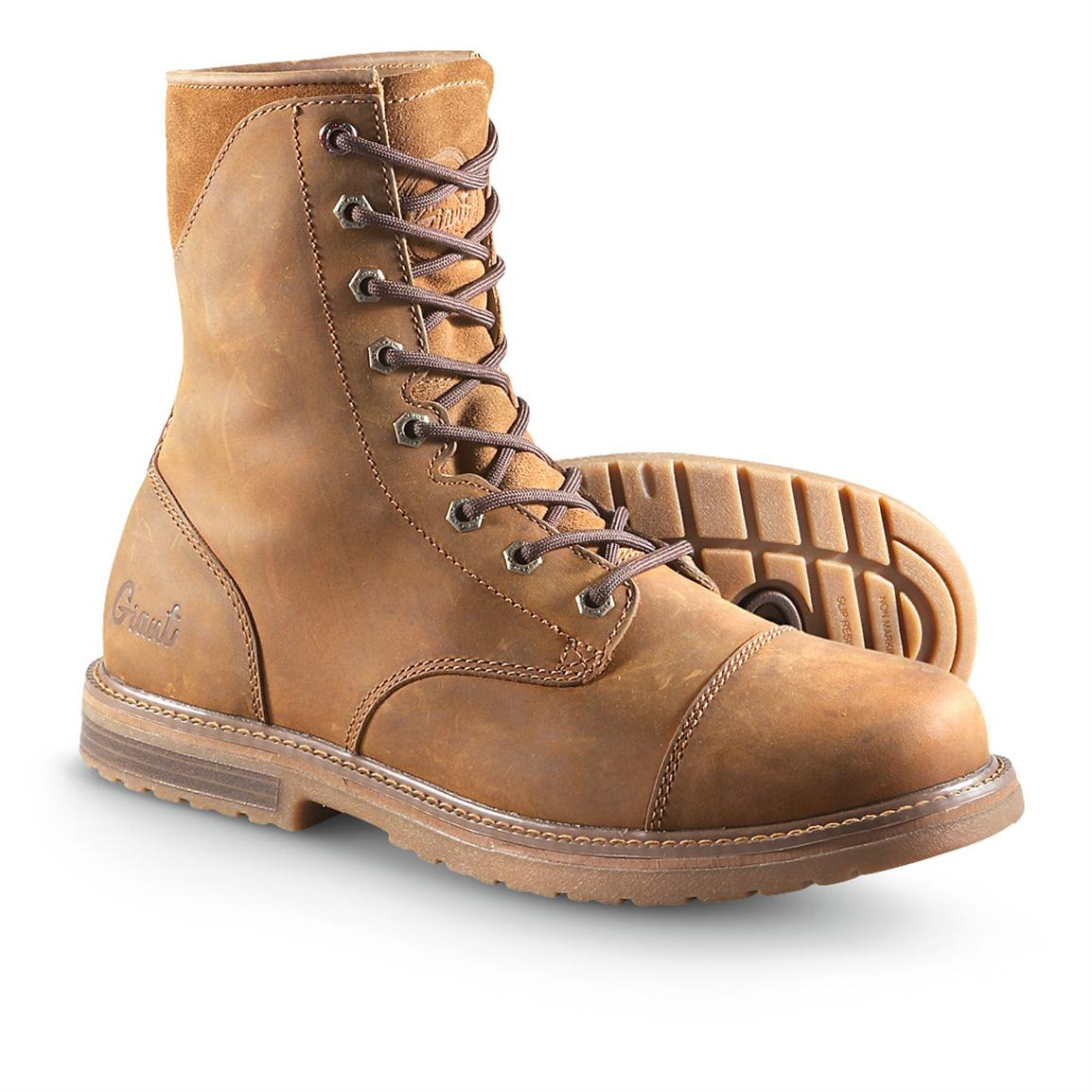 Men's Casual Work Boots - Giant™ by Georgia Boot® Mitchell Boots, Mocha