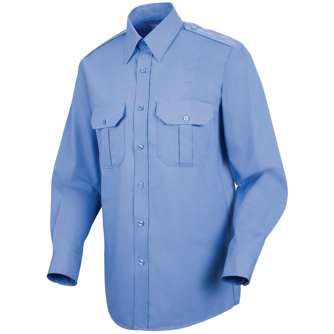 Men's Horace Small® Long-sleeved Basic Security Shirt, Medium Blue
