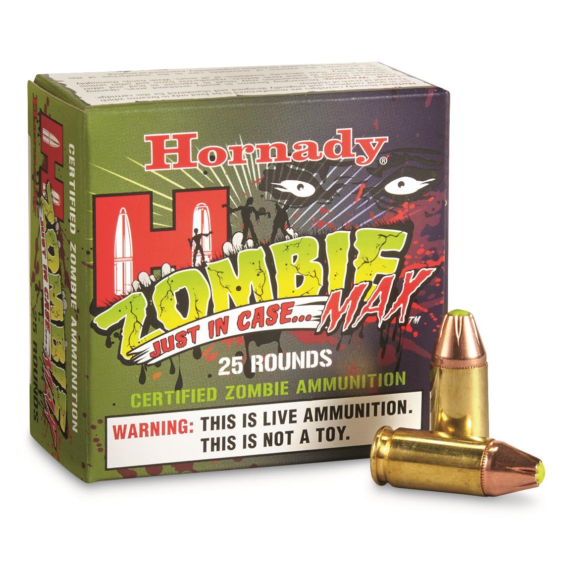 Hornady Zombie Max 9mm Luger 115 Grain 25 rds.