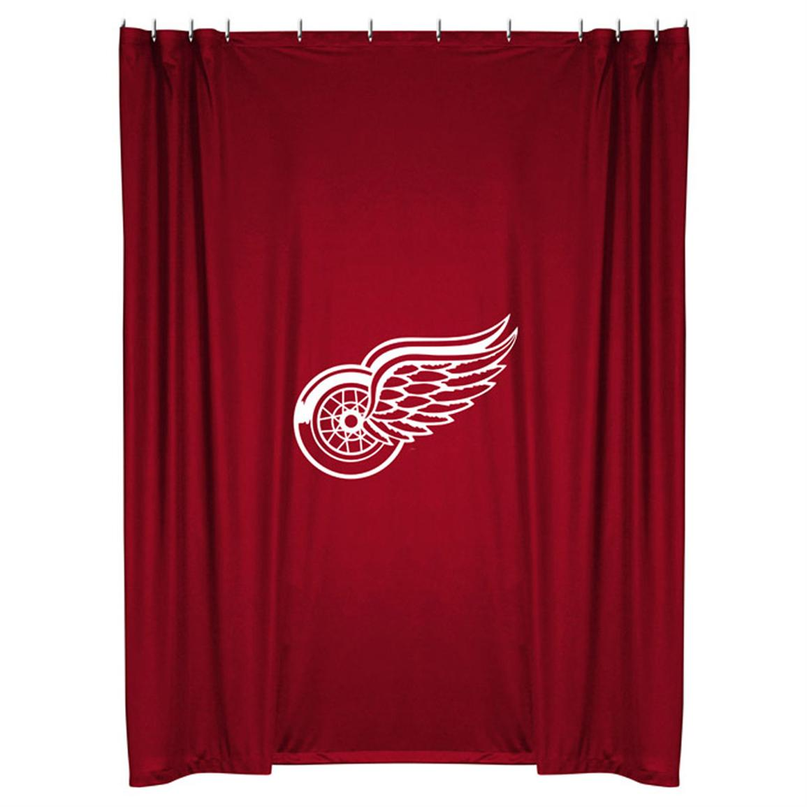 Sports Coverage® NHL Team Shower Curtain, Detroit Red Wings