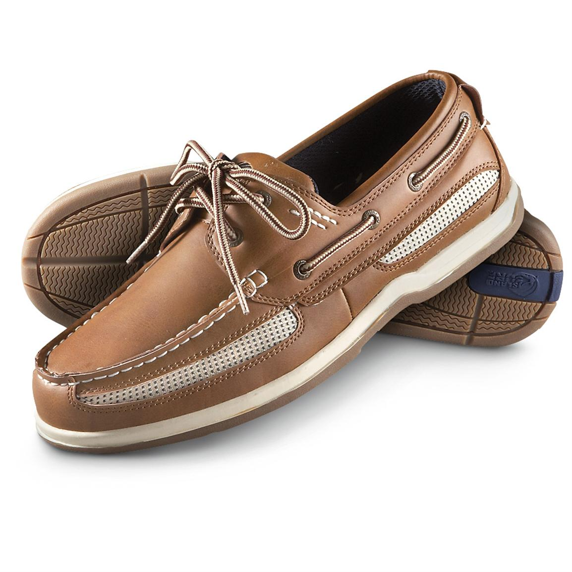 Men's Island Surf® Cod Boat Shoes, Tan