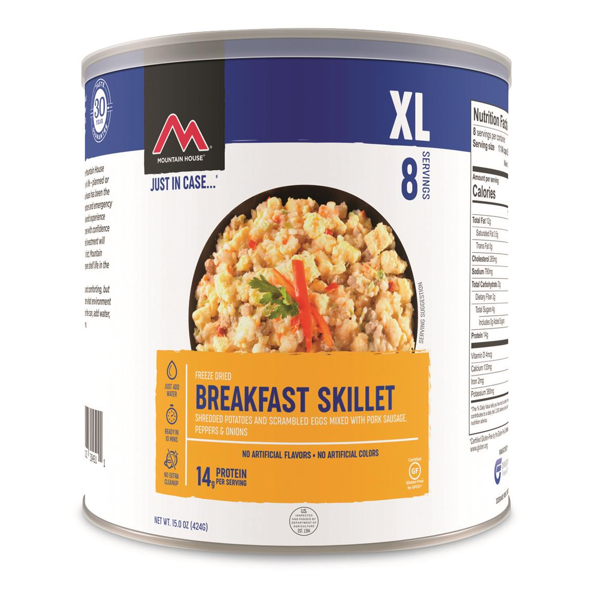 Mountain House Emergency Food Freeze-Dried Breakfast Skillet, 8 Servings