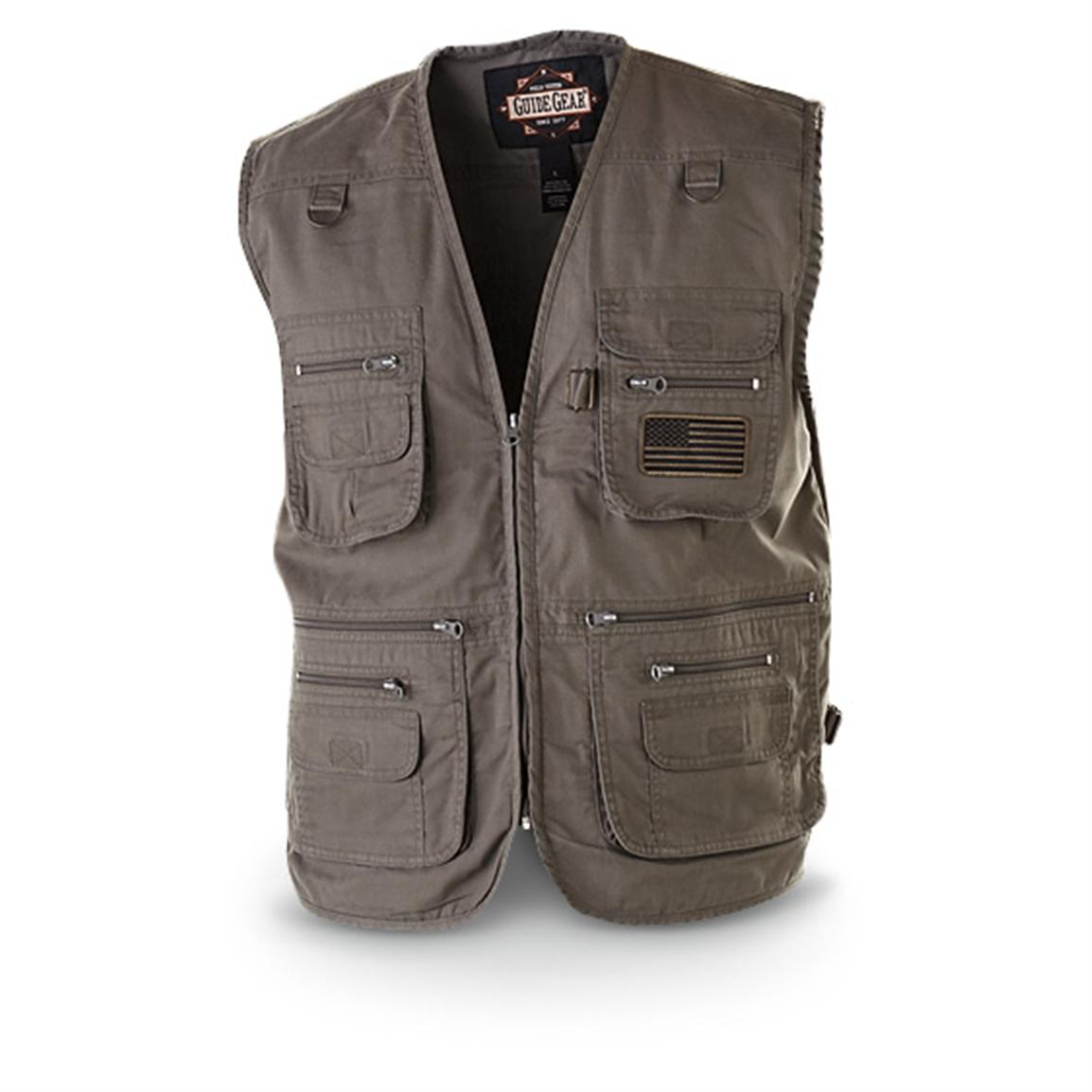 Guide Gear Men's Concealment Vest, Olive Drab