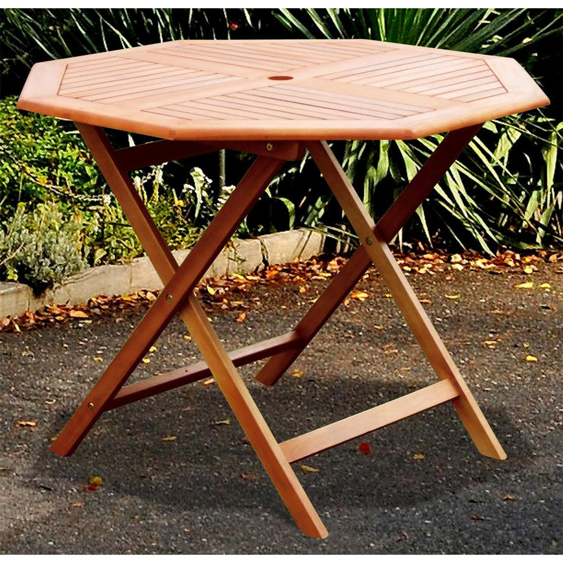 VIFAH® Octagonal Outdoor Wood Table