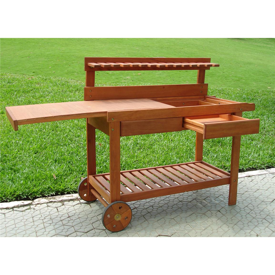 Vifah Wood Potting Bench 218679 Patio Furniture At Sportsman 39 S Guide