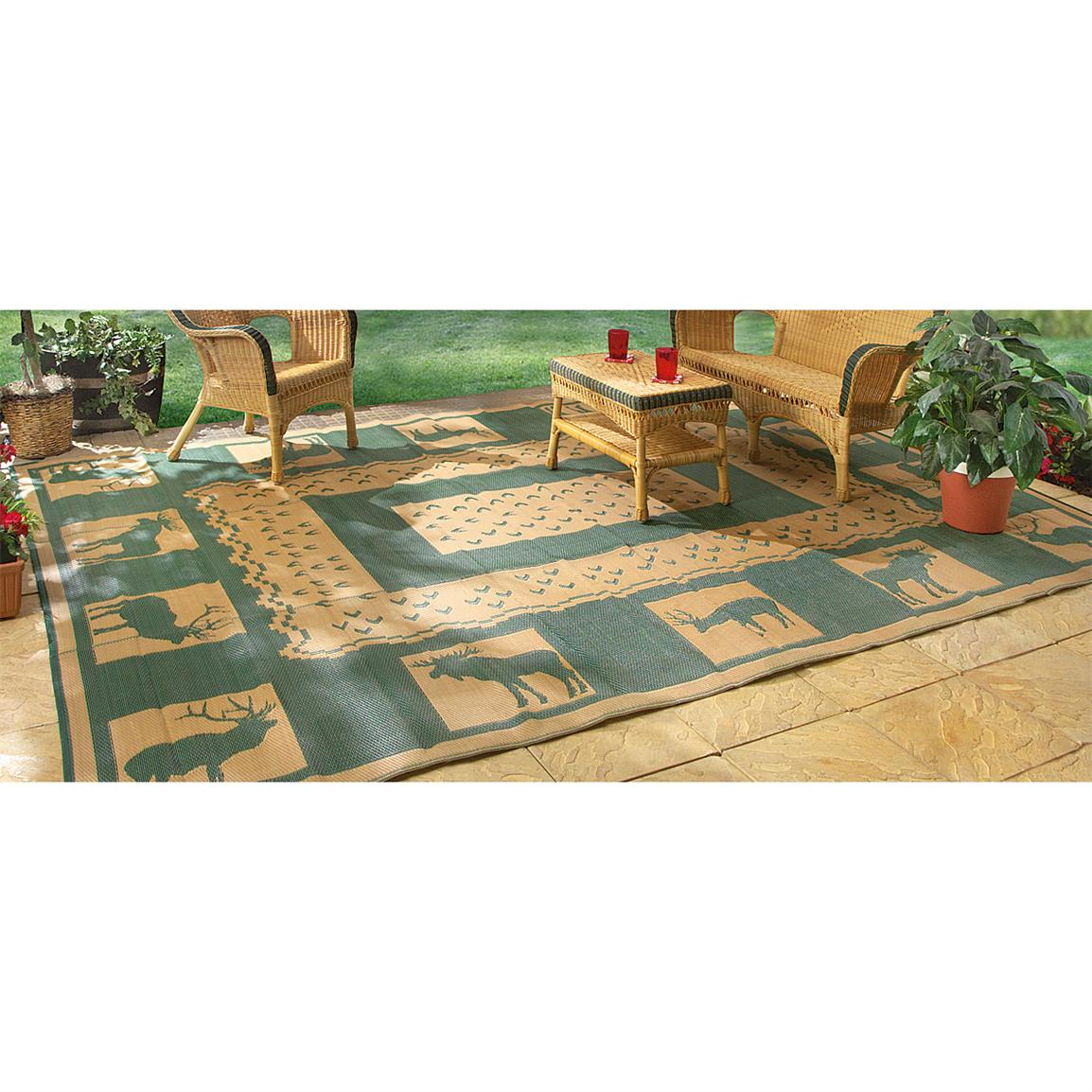 Guide Gear Reversible Outdoor Rug, 6 foot x 9 foot