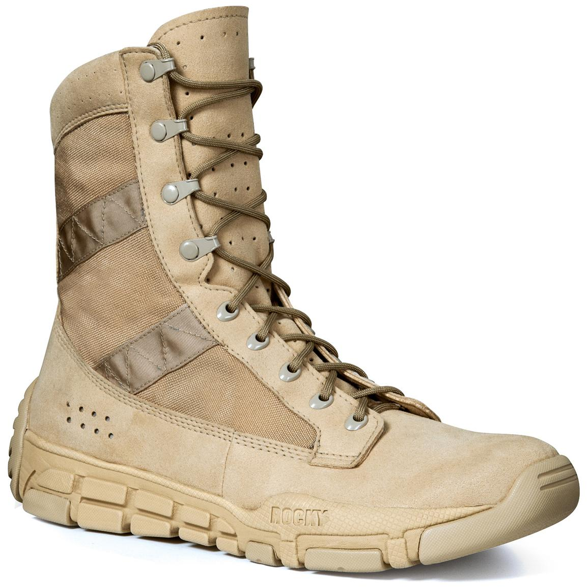 Men's Rocky® C4T Military Boots, Desert Tan