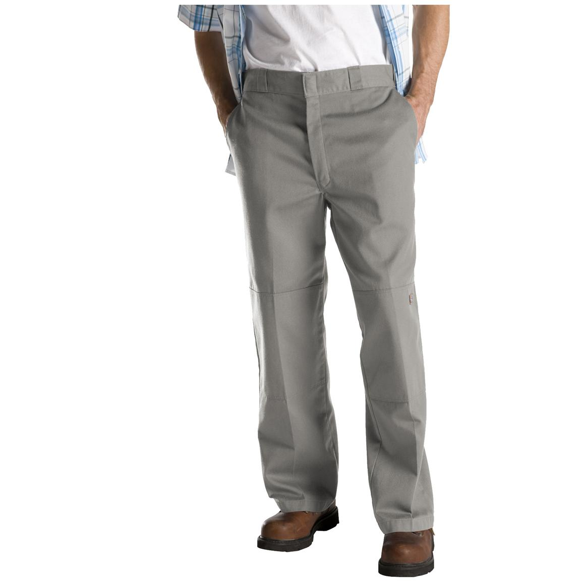 Dickies® Loose Fit Double-Knee Work Pants, Silver Grey