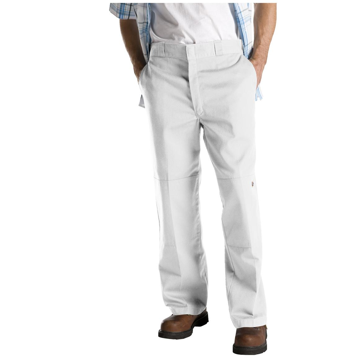 Dickies® Loose Fit Double-Knee Work Pants, White