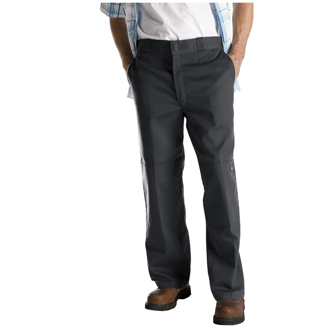 Dickies® Loose Fit Double-Knee Work Pants, Charcoal