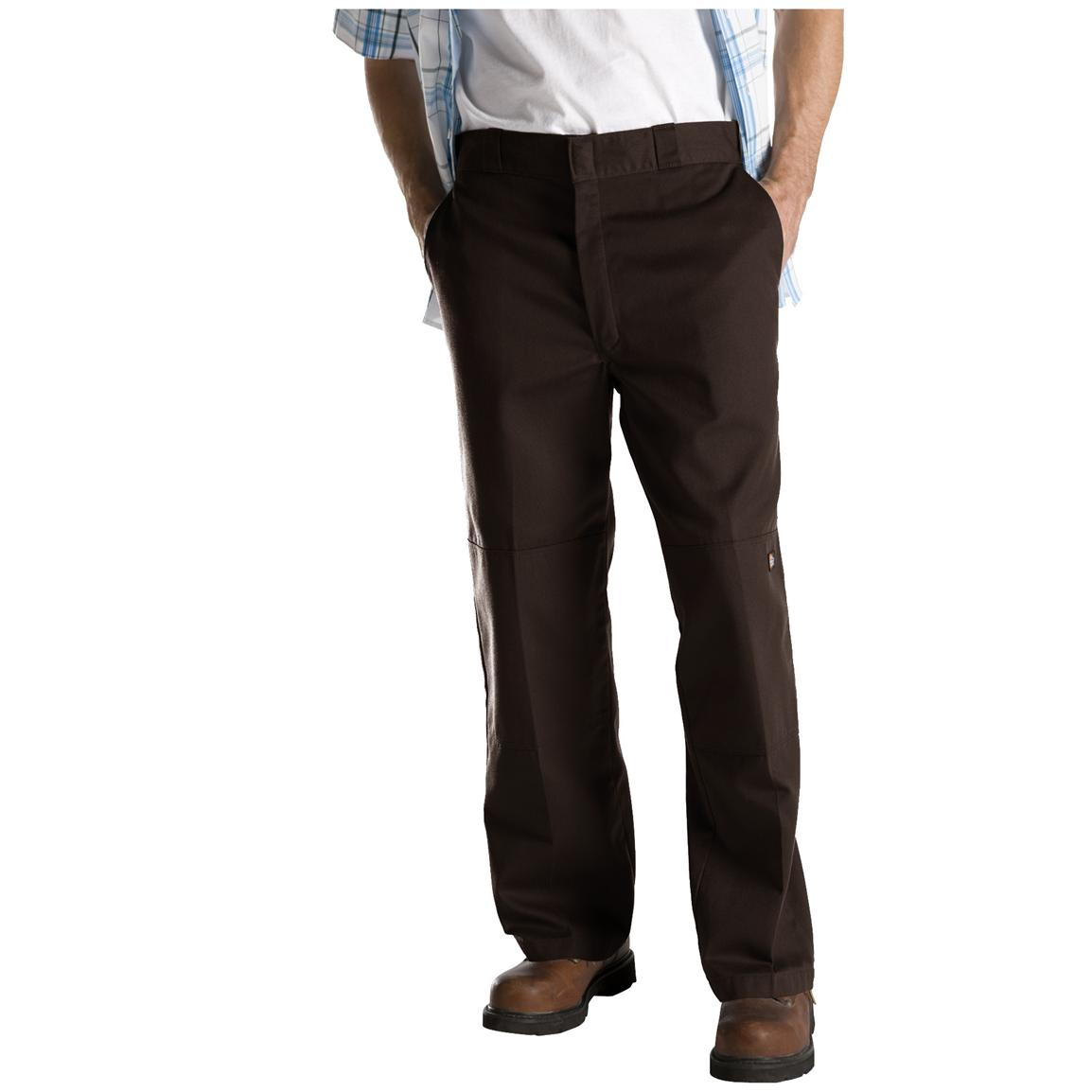 Dickies® Loose Fit Double-Knee Work Pants, Dark Brown