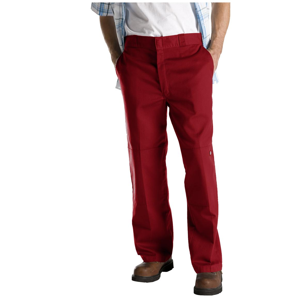 Dickies® Loose Fit Double-Knee Work Pants, English Red
