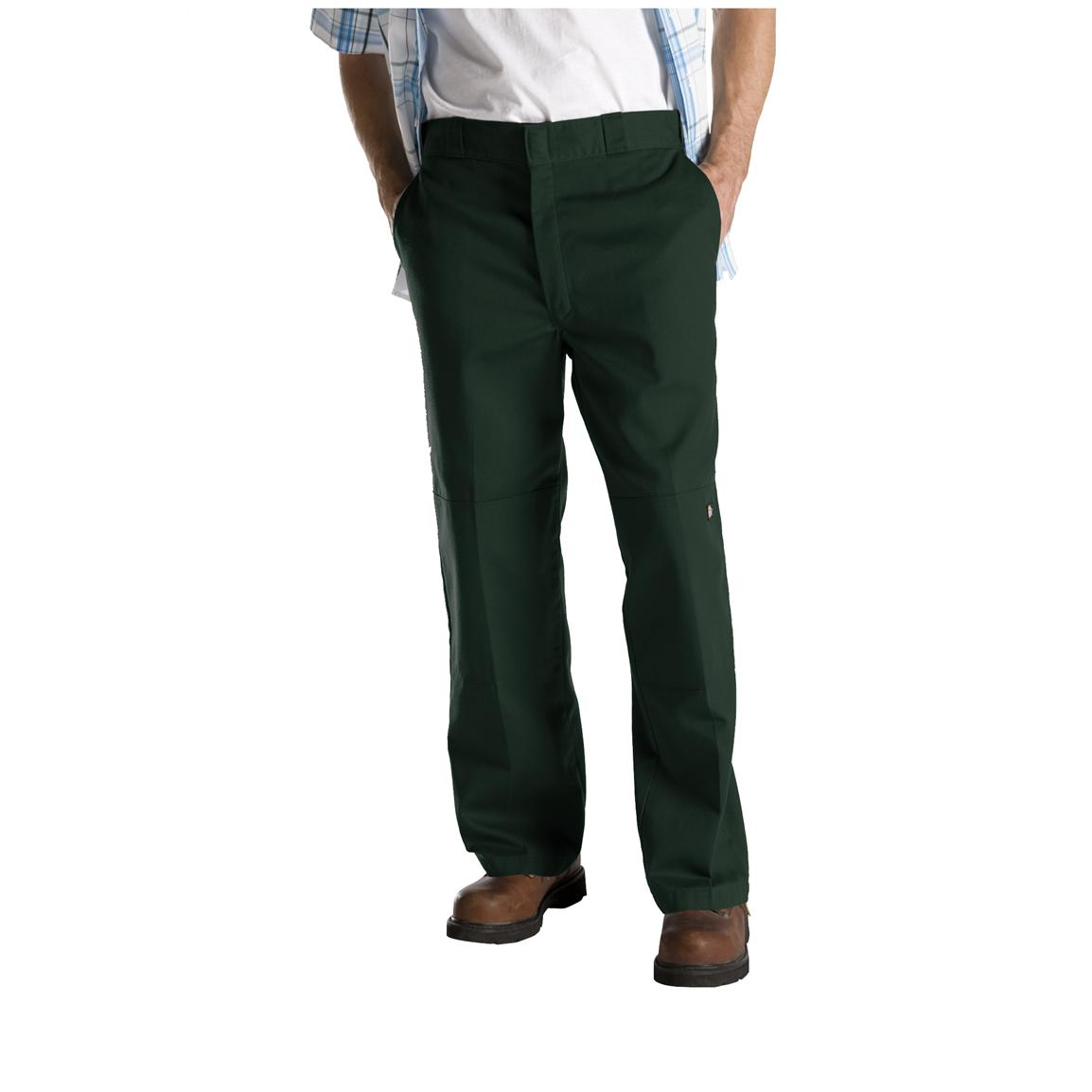 Dickies® Loose Fit Double-Knee Work Pants, Hunter Green
