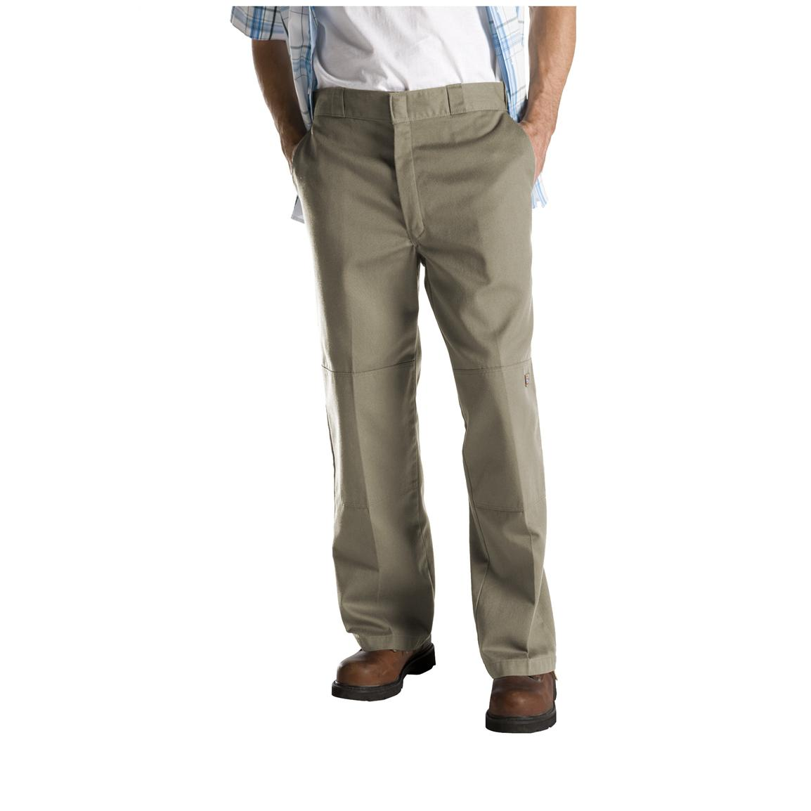 Dickies® Loose Fit Double-Knee Work Pants, Khaki