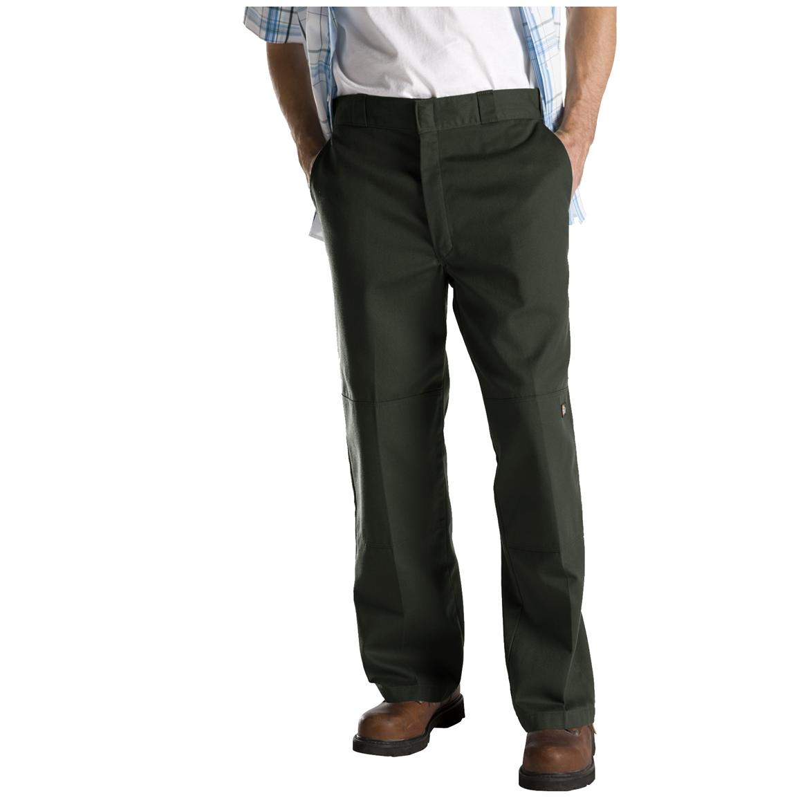 Dickies® Loose Fit Double-Knee Work Pants, Olive Green