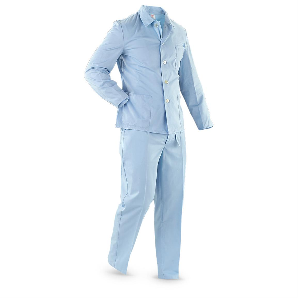 New German Military Hospital Scrubs, Light Blue