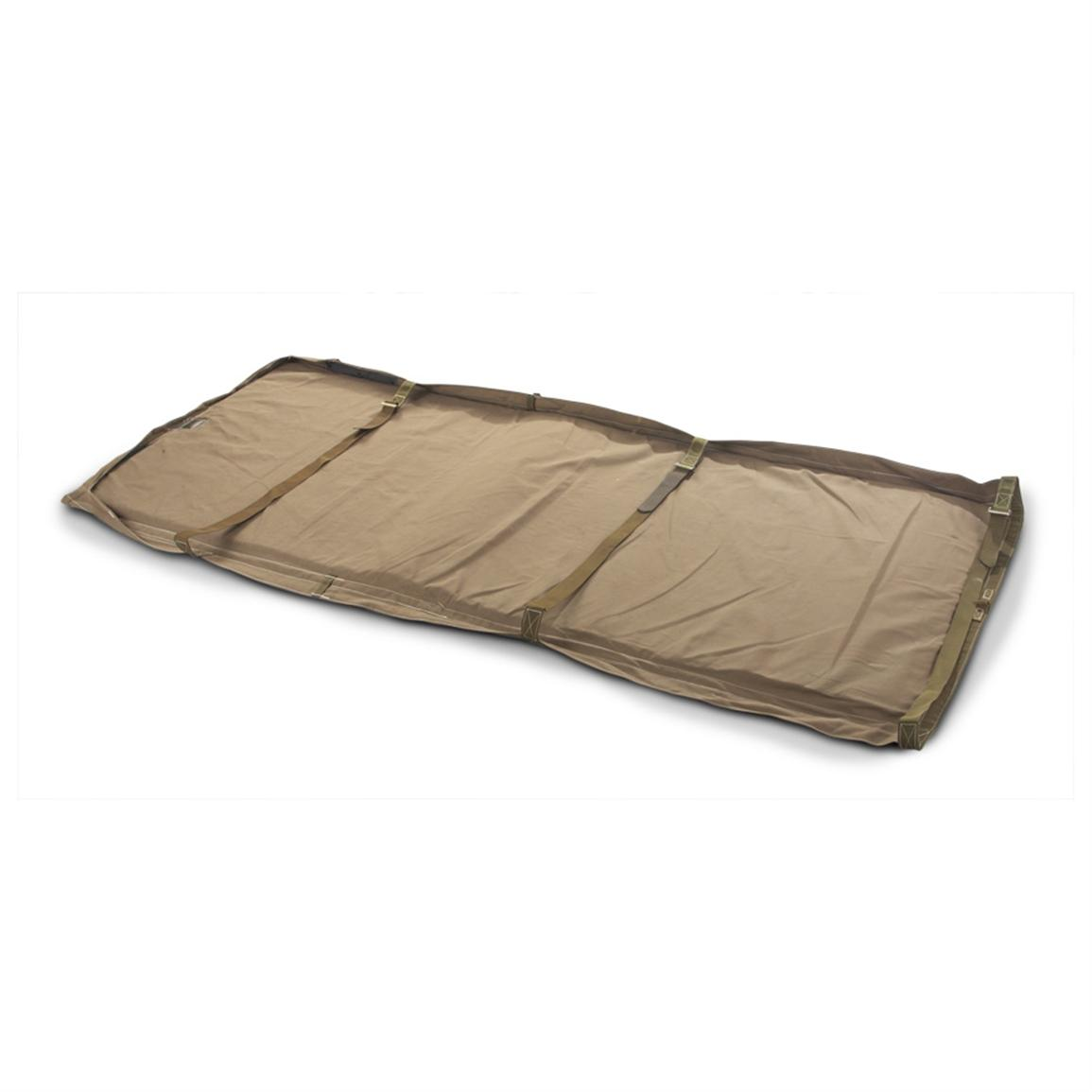 French Military Surplus Air Force Covered Foam Ground Mat, Khaki