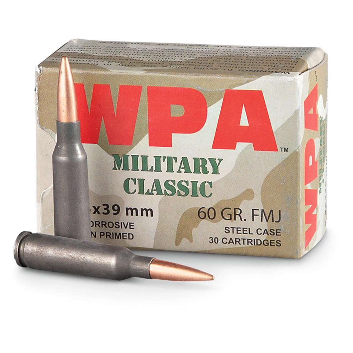 Wolf Military Classic, 5.45x39mm, FMJ, 60 Grain, 750 Rounds