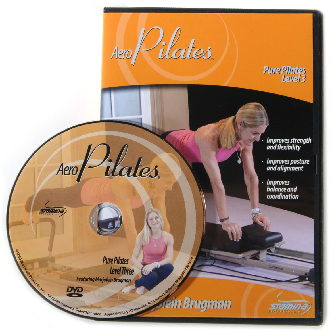 Stamina® Pure Pilates® Workout Level Three DVD with Marjolein Brugman