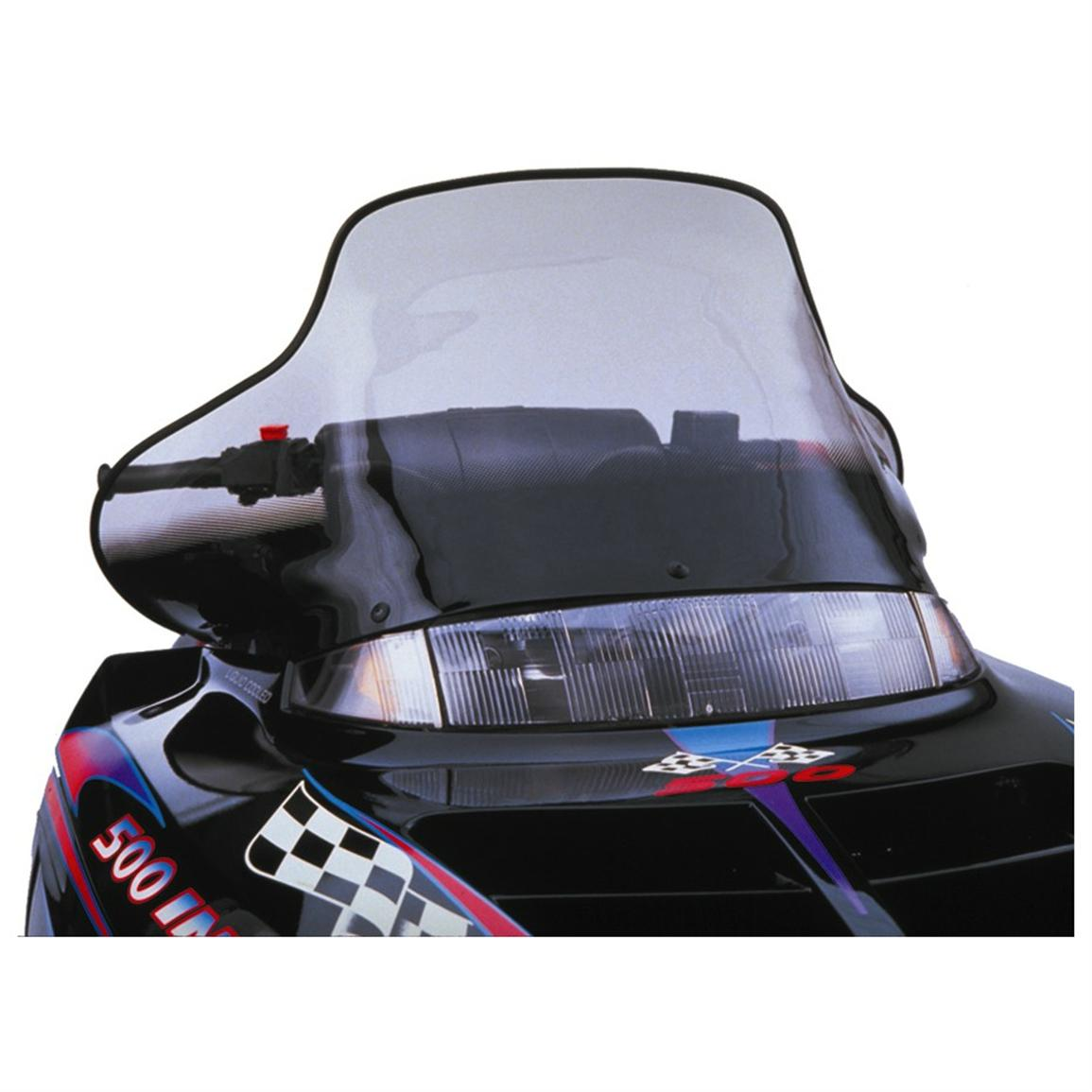 15 1/2 inch PowerMadd® Cobra Snowmobile Windshield for Polaris Evolved Chassis, Tint with Black Checks