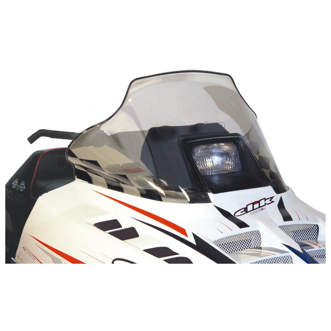 14 inch PowerMadd® Cobra Snowmobile Windshield for Polaris Indy Chassis, Tint with Black Checks