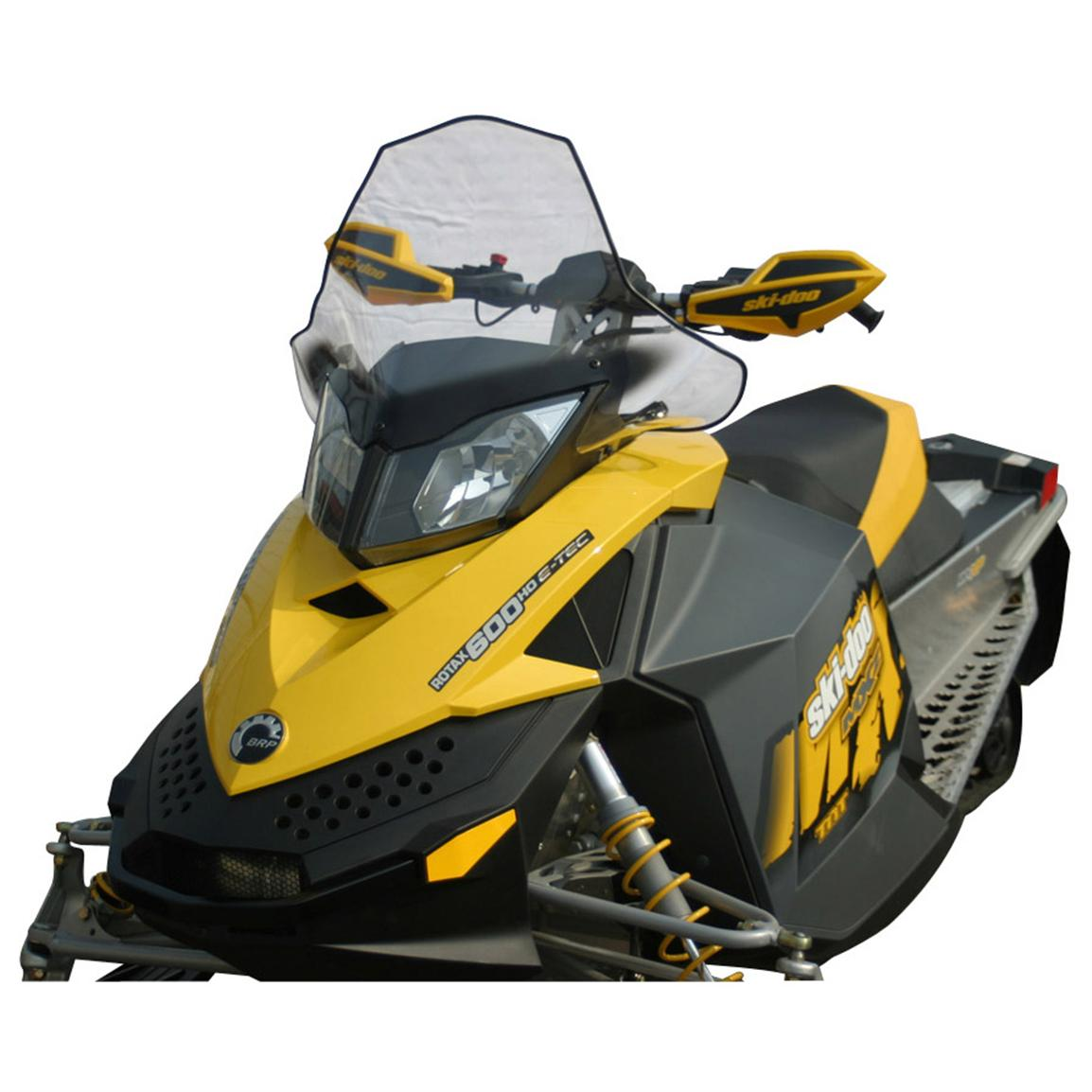 17 1/4 inch PowerMadd® Cobra Snowmobile Windshield for Ski-Doo REV XP Chassis, Clear with Black Accent