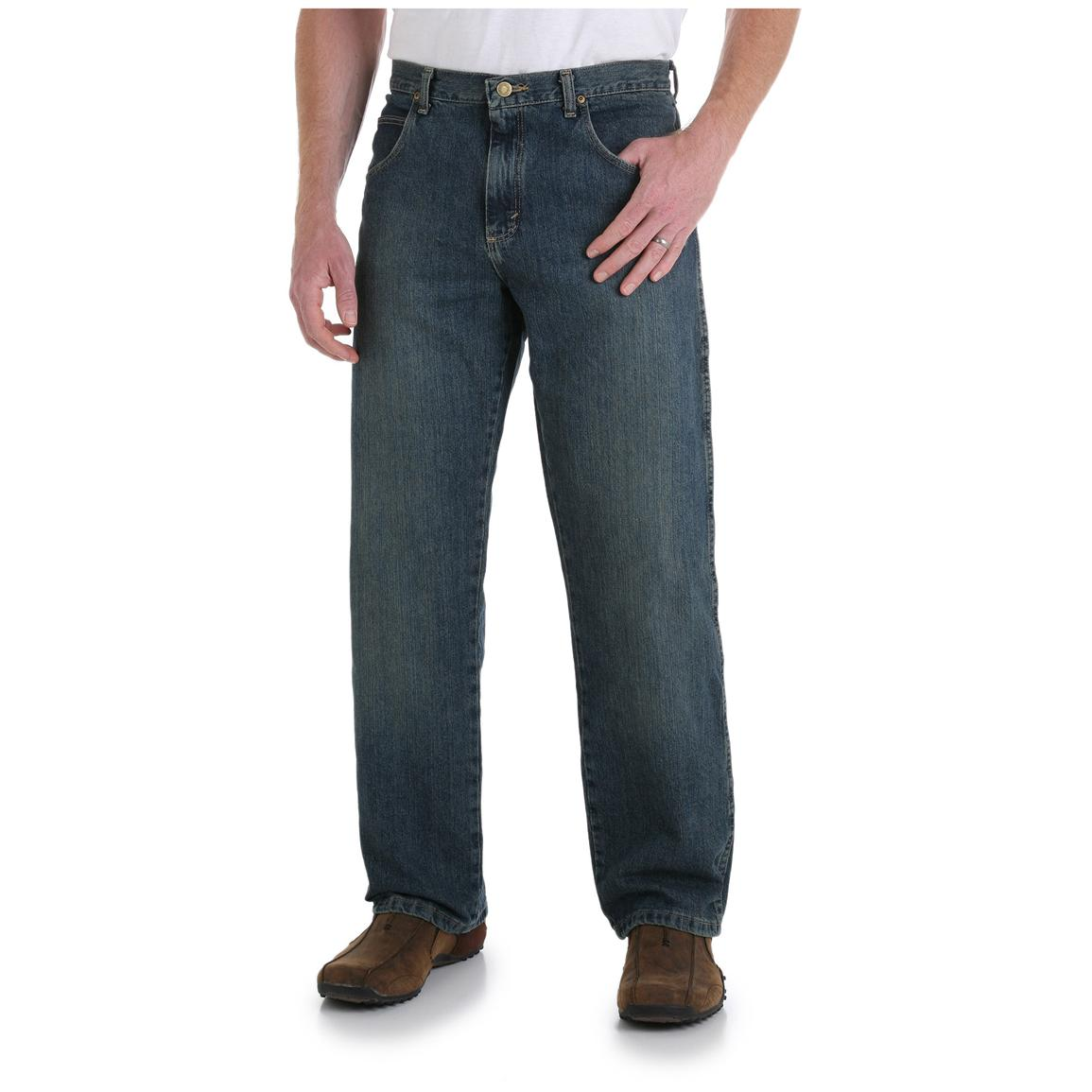 Men's Wrangler® Rugged Wear Relaxed Straight Fit Jeans, Mediterranean