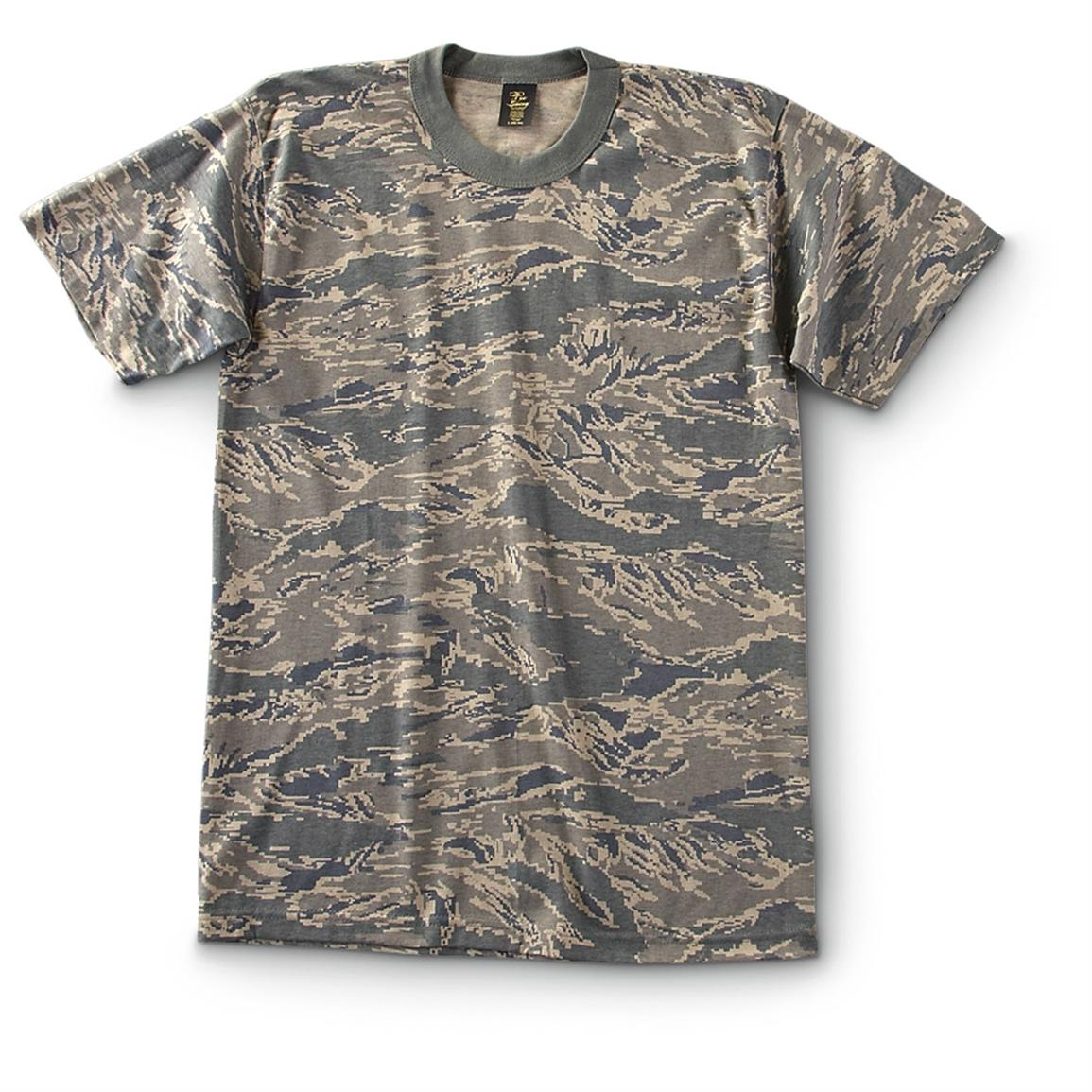 Military-Style Short-Sleeve T-Shirts, 2 Pack, New, ABU Camo