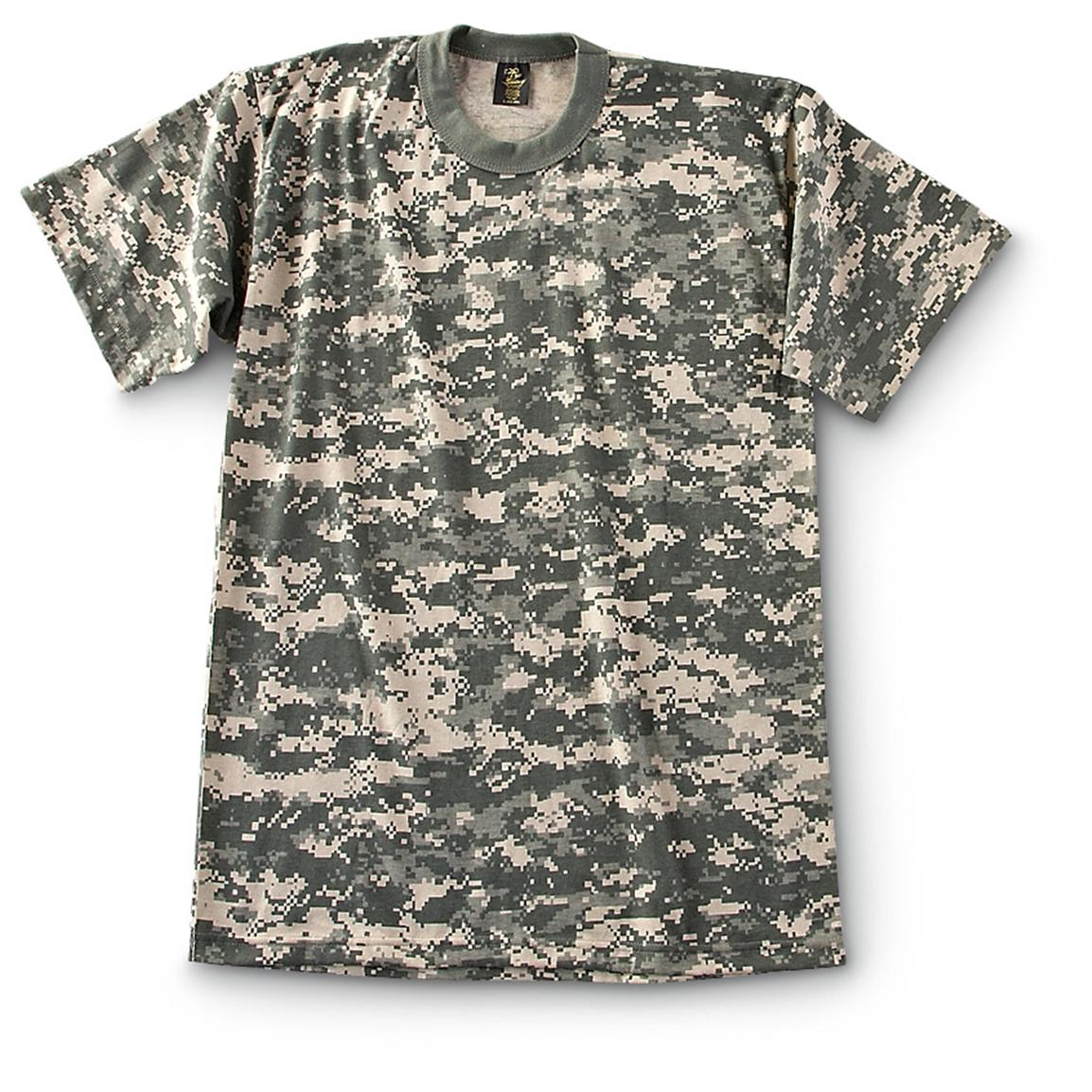 Military-Style Short-Sleeve T-Shirts, 2 Pack, New, Army Digital
