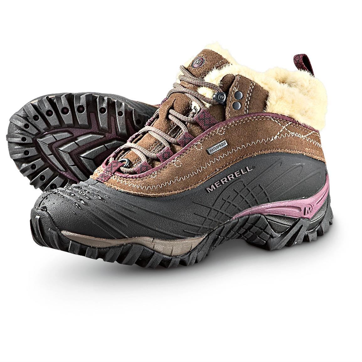 Women's Merrell® Insulated Waterproof Isotherm Boots, Stone
