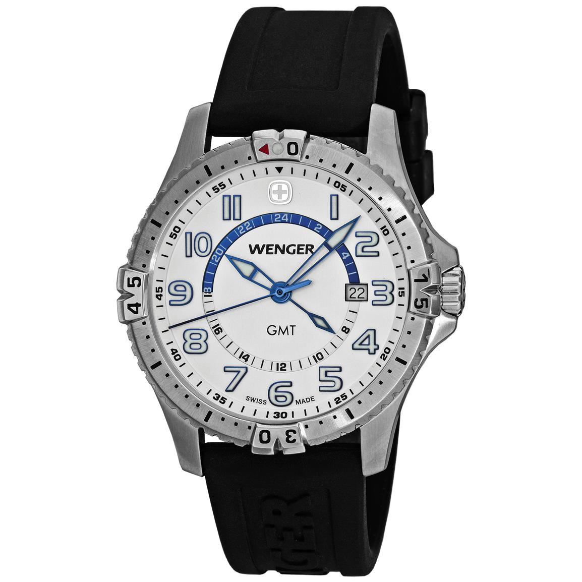 Men's Wenger® 77070 Squadron GMT Watch, White